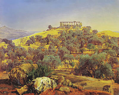 Sicily Painting - Temple Of Juno At Girgenti Lancinia by Mountain Dreams
