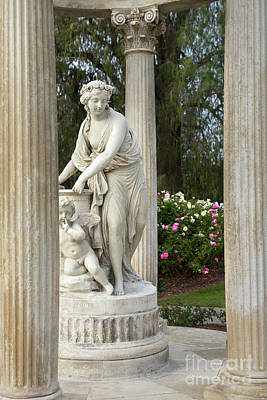 Temple Of Love Statue At The Rose Garden Of The Huntington Libra Art Print