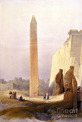 Temple Of Luxor, Grand Entrance, 1830s Art Print by Science Source