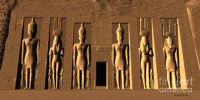 Hathor Digital Art - Temple Of Nefertari by Corey Ford