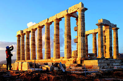Photograph - Temple Of Poseidon by Fabrizio Troiani