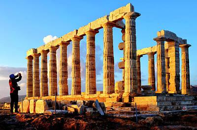 Photograph - Temple Of Poseidon by Fabrizio Troiani