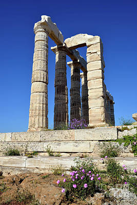Greek Photograph - Temple Of Poseidon by George Atsametakis