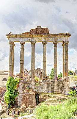 Photograph - Temple Of Saturn Front by Weston Westmoreland