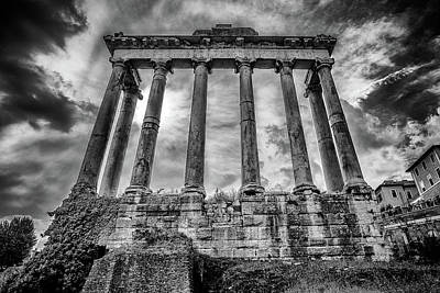 Photograph - Temple Of Saturn by James Billings