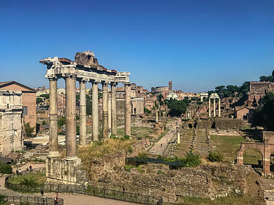 Photograph - Temple Of Saturn by Joseph Yarbrough
