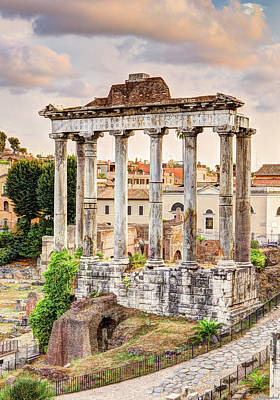 Photograph - Temple Of Saturn by Weston Westmoreland