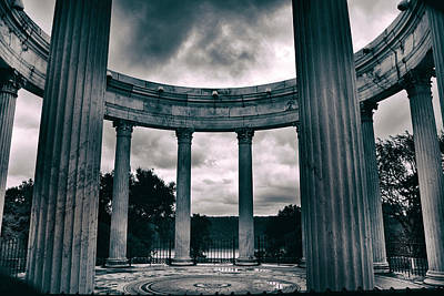 Greek Columns Digital Art - Temple Of The Dawn Sky  by Jessica Jenney