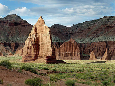 Photograph - Temple Of The Moon, Capital Reef by Jeff Brunton