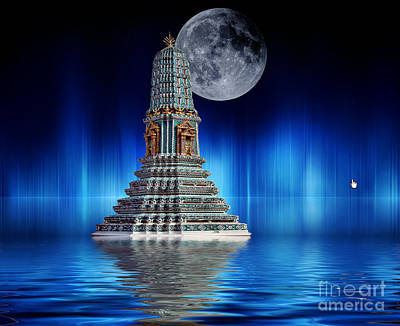 Photograph - Temple Of The Moon by Shirley Mangini