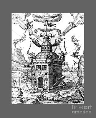 Outerspace Patenets Rights Managed Images - Temple Of The Rosicrucians Royalty-Free Image by Frederick Holiday