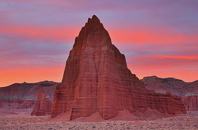 Photograph - Temple Of The Sun And Moon At Sunrise At Capitol Reef National Park by Jetson Nguyen