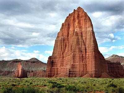 Photograph - Temple Of The Sun, Capital Reef by Jeff Brunton