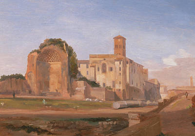 Painting - Temple Of Venus And Rome, Rome by Edward Lear