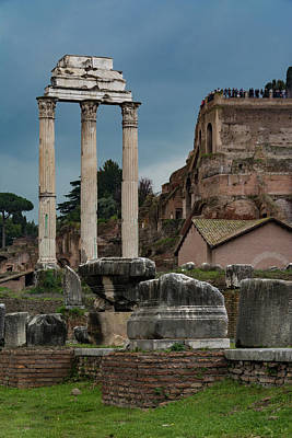 Photograph - Temple Of Venus Genetrix by Gary Lengyel