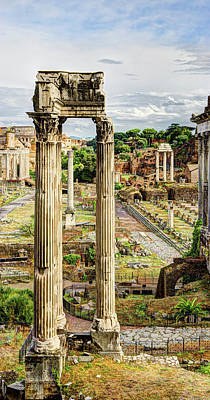 Photograph - Temple Of Vespasian And Titus by Weston Westmoreland