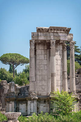 Photograph - Temple Of Vesta by David Cote