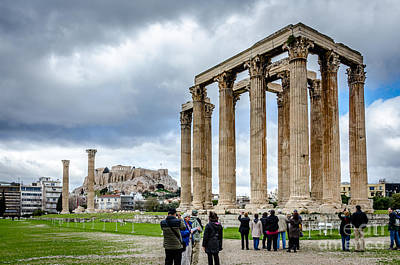 Photograph - Temple Of Zeus And Acropolis - Athens Greece 2 by Debra Martz