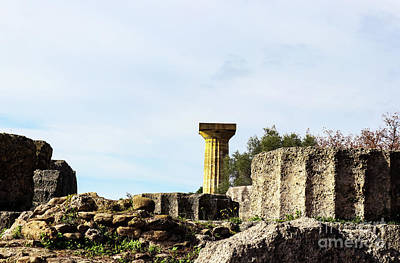 Photograph - Temple Of Zeus In At Ancient Corinth In Greece by Susan Vineyard