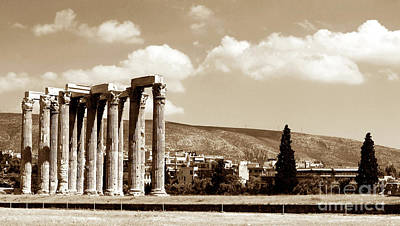 Greek School Of Art Photograph - Temple Of Zeus by John Rizzuto