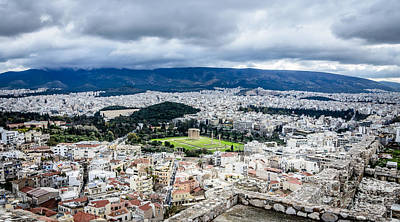 Photograph - Temple Of Zeus - View From The Acropolis by Debra Martz