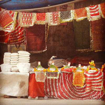 Photograph - Temple Offerings by Mini Arora