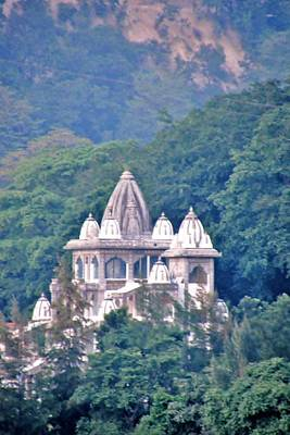 Photograph - Temple In The Distance - Rishikesh India by Kim Bemis