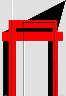 Temple Portal Tokyo Japan Art Print by Asbjorn Lonvig