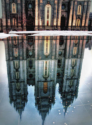 Temple Reflection Art Print by Jim Hill