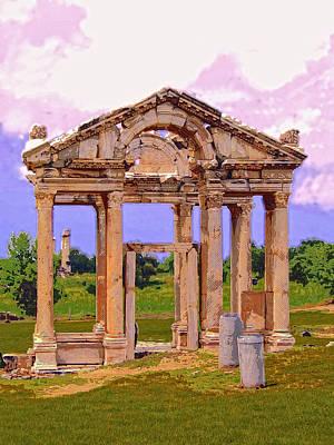 Ruins Mixed Media - Temple Ruins At Ephesus by Dominic Piperata