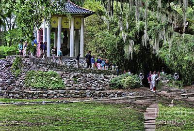 Avery Island Photograph - Temple Shonfa Avery Island Louisiana  by Chuck Kuhn