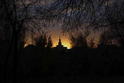 Temple Photograph - Temple Silhouette  by Gloria Pasko