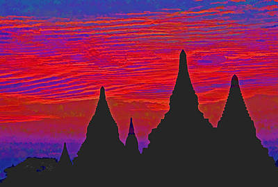 Temple Silhouettes Art Print by Dennis Cox