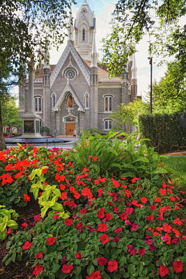 Photograph - Temple Square Flowers by Utah Images