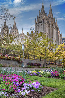 Photograph - Temple Square Salt Lalke City Utah by Utah Images