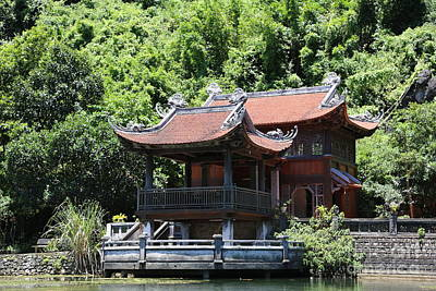 Photograph - Temple Tam Coc Reserve Ninh Binh.  by Chuck Kuhn