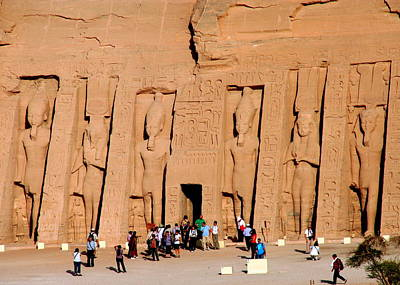 Photograph - Temple To Honor Queen Nefertari At Abu Simbel by Laurel Talabere