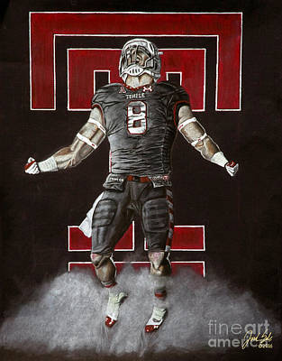 Temple University Football  Art Print