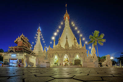 Pai Photograph - Temple Wat Phra That Doi Kong Mu by Anek Suwannaphoom