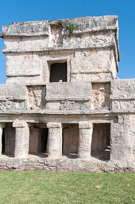 Digital Art - Templo De Las Pinturas At Tulum Ruins by Carol Ailles