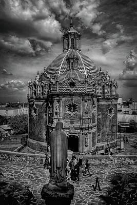 Templo Del Pocito - Mexico Bnw Hdr Art Print