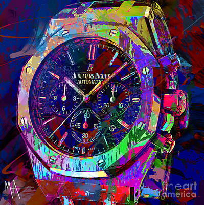 Digital Art - Audemars Piguet by Maria Arango
