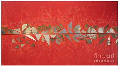 Abstracto Mixed Media - Temptation Line by Ruben  Chuela