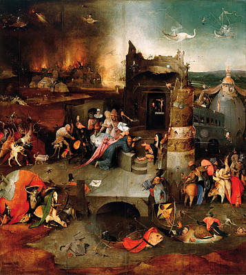 Netherlands Painting - Temptation Of Saint Anthony, Central Panel by Hieronymus Bosch