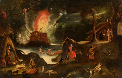 Temptation Of Saint Anthony Art Print by Jacob van Swanenburgh