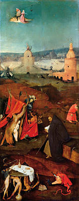 Unclothed Painting - Temptation Of Saint Anthony, Right Wing by Hieronymus Bosch