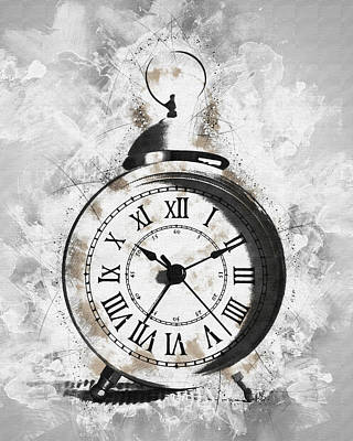 Clock Face Mixed Media - Ten Eleven by Melissa Smith