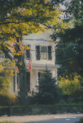 Mcentee Painting - Ten Lincoln Street, Easton, Ma by Bill McEntee