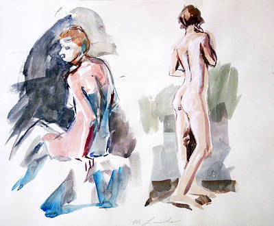 Painting - ten Minute Sketches by Mark Lunde
