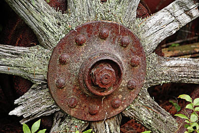 Photograph - Ten Old Wood Spokes by Debbie Oppermann